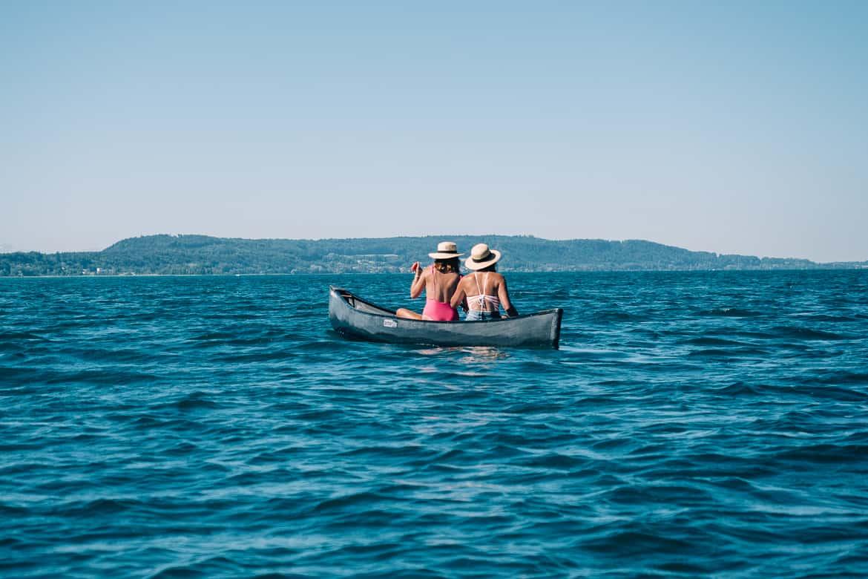 Jura & Drei-Seen-Land - 6 besondere Orte zum Natur genießen - Im Kanadier auf dem Bielersee