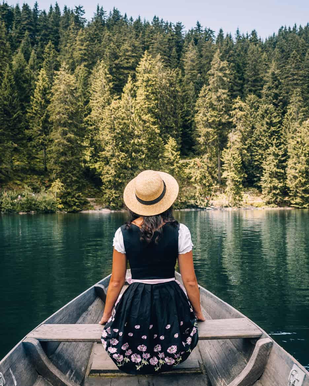 Sommer im Renchtal - ein Hauch Toskana im Schwarzwald: Ausflug Mummelsee Ruderboot