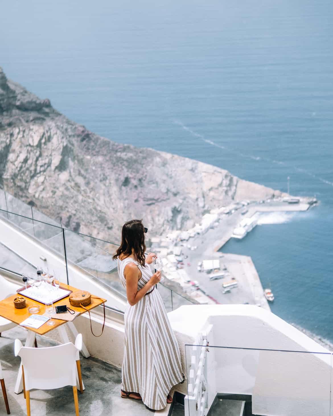 Santorini Travel Guide: Ausblick von der Santo Winery