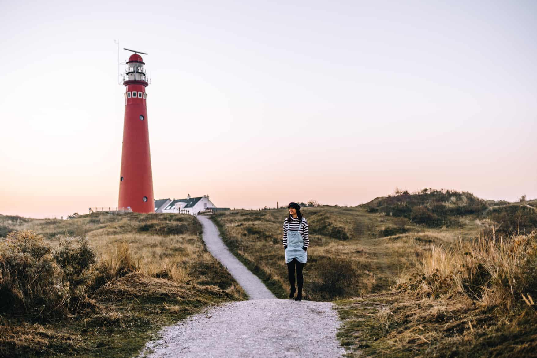 Schiermonnikoog Sonnenaufgang am Leuchtturm