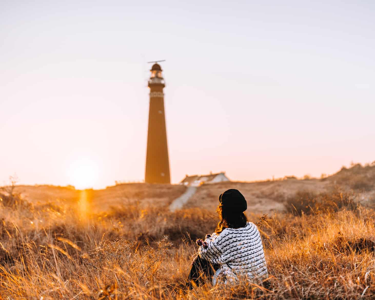 Schiermonnikoog Morgenstimmung am Leuchtturm