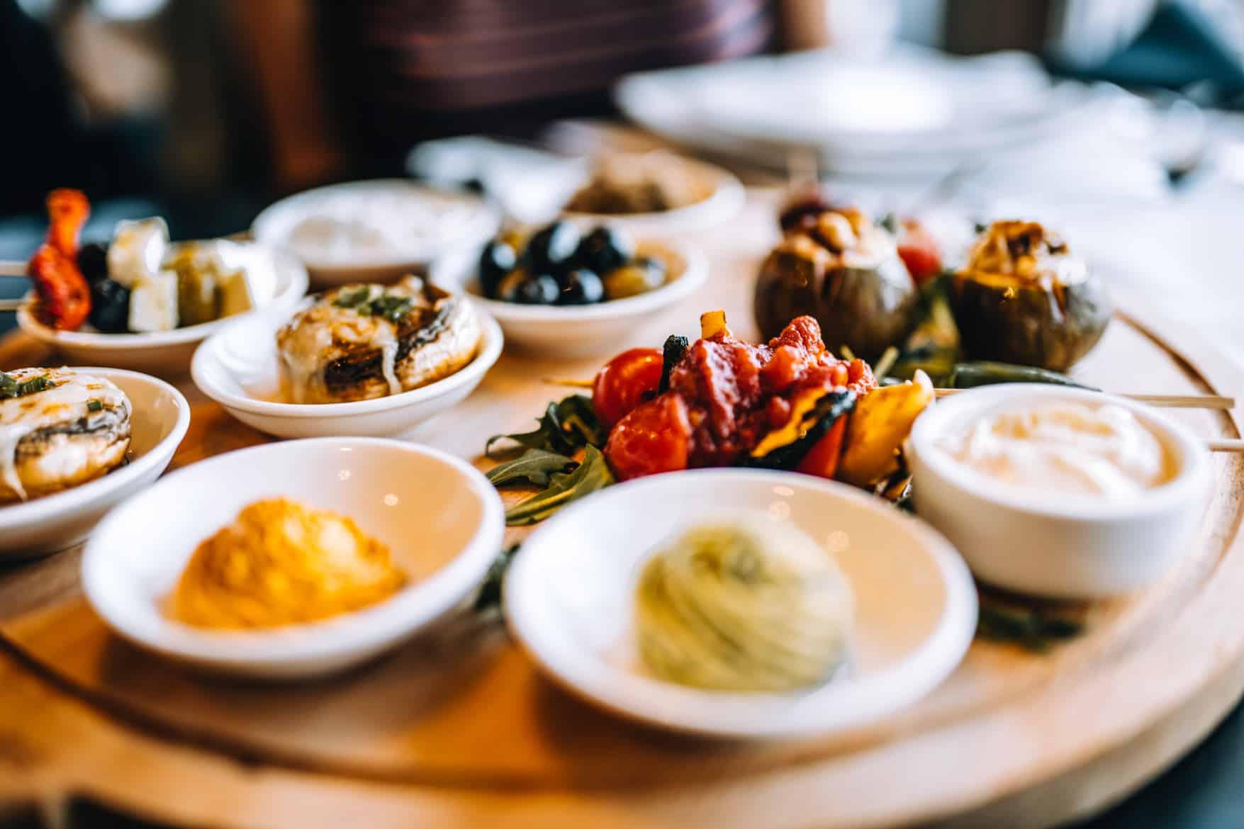 Schiermonnikoog Vegetarische Tappas im Restaurant Noderstraun