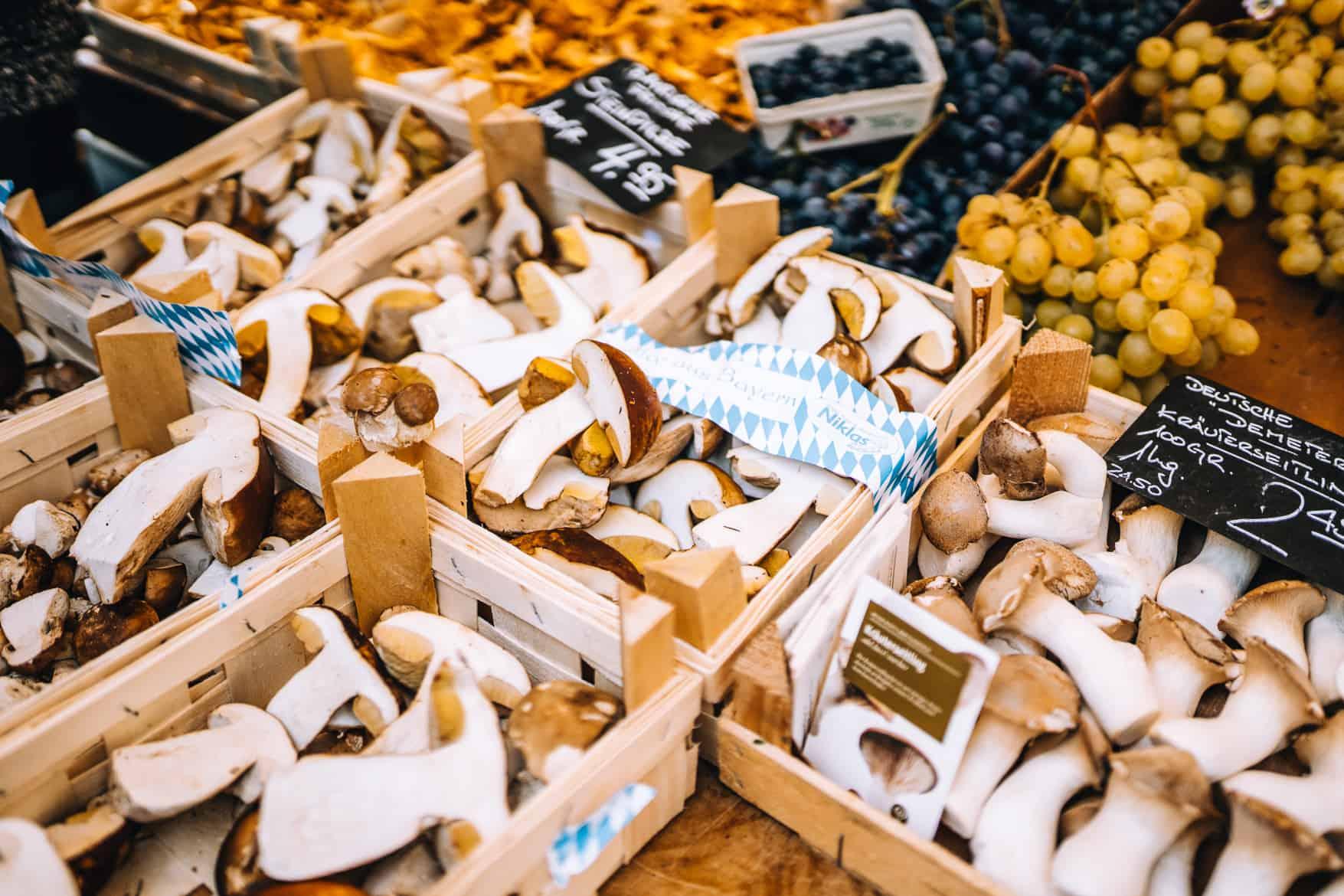 Stuttgart im Herbst - Cannstatter Wasen, Kürbisfestival & #tastyStuttgart: Pilze auf dem Stuttgarter Wochenmarkt