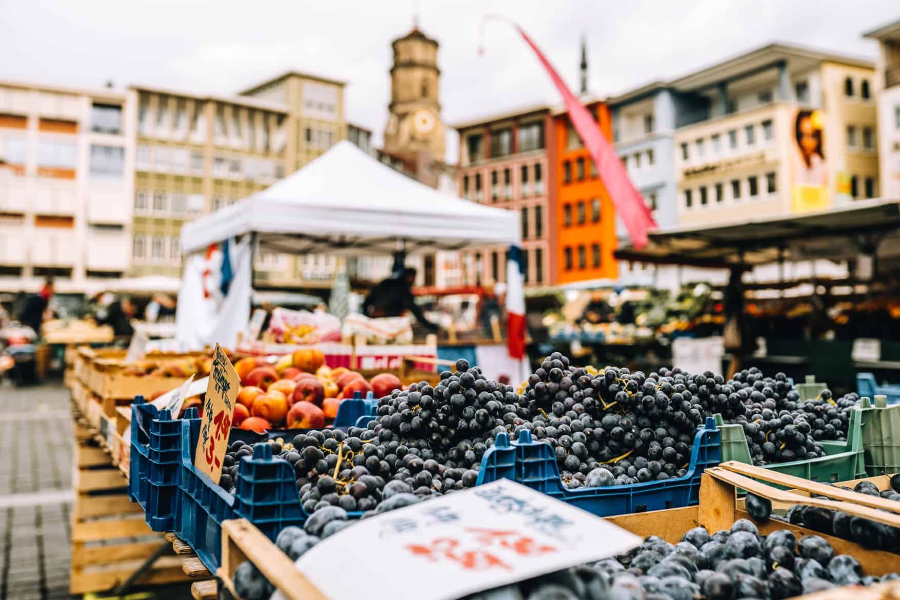 Stuttgart im Herbst - Cannstatter Wasen, Kürbisfestival & #tastyStuttgart: Der Stuttgarter Wochenmarkt