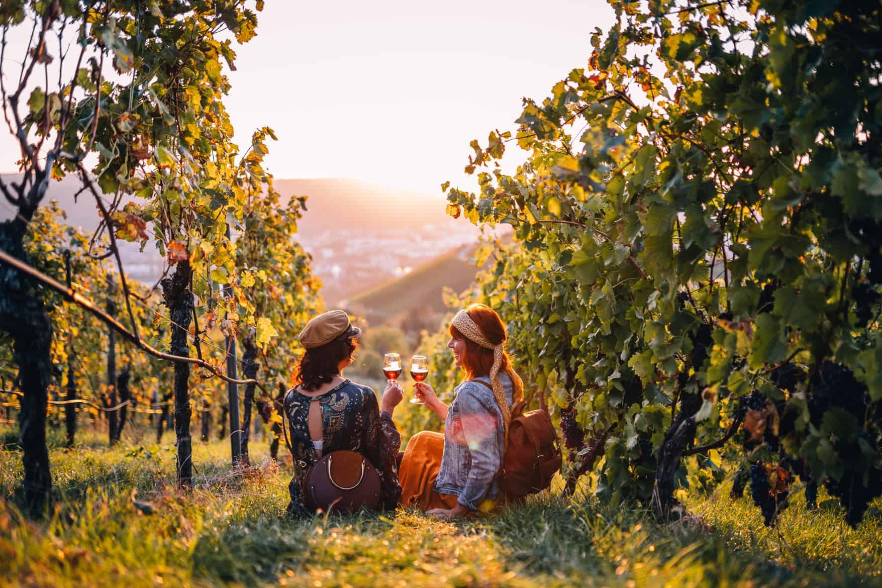 Stuttgart im Herbst - Cannstatter Wasen, Kürbisfestival & #tastyStuttgart: Wein zum Sonnenuntergang an der Grabkapelle