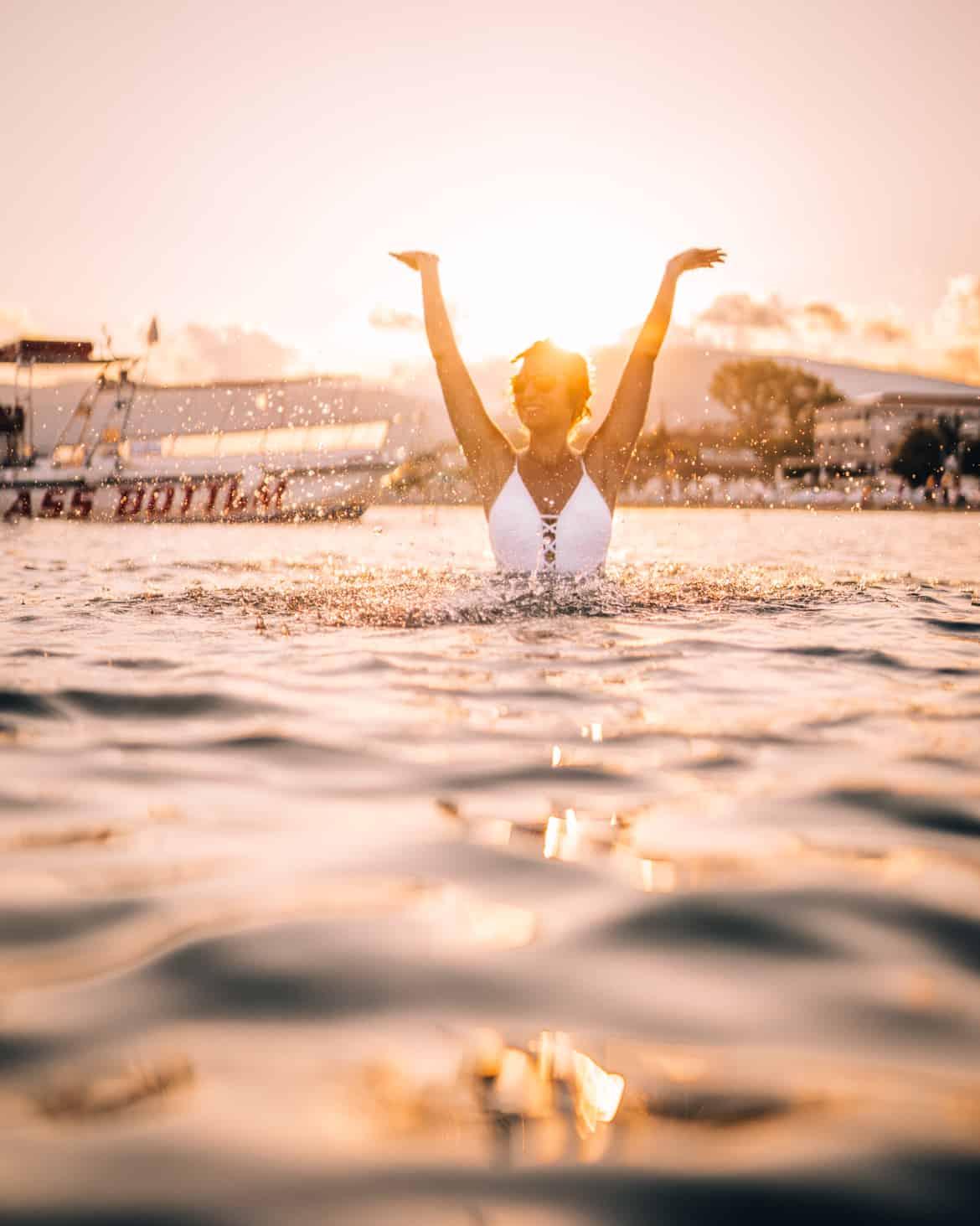 Zakynthos Urlaub - Sonnenuntergang am Laganas Beach
