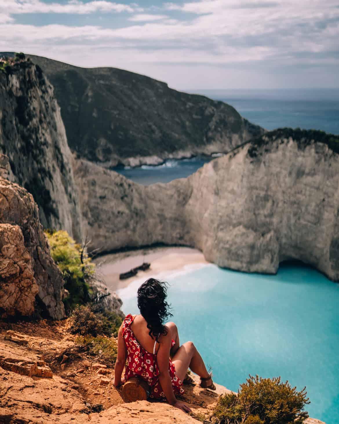 Zakynthos Urlaub - Navagio Bay / Shipwreck Beach Aussicht