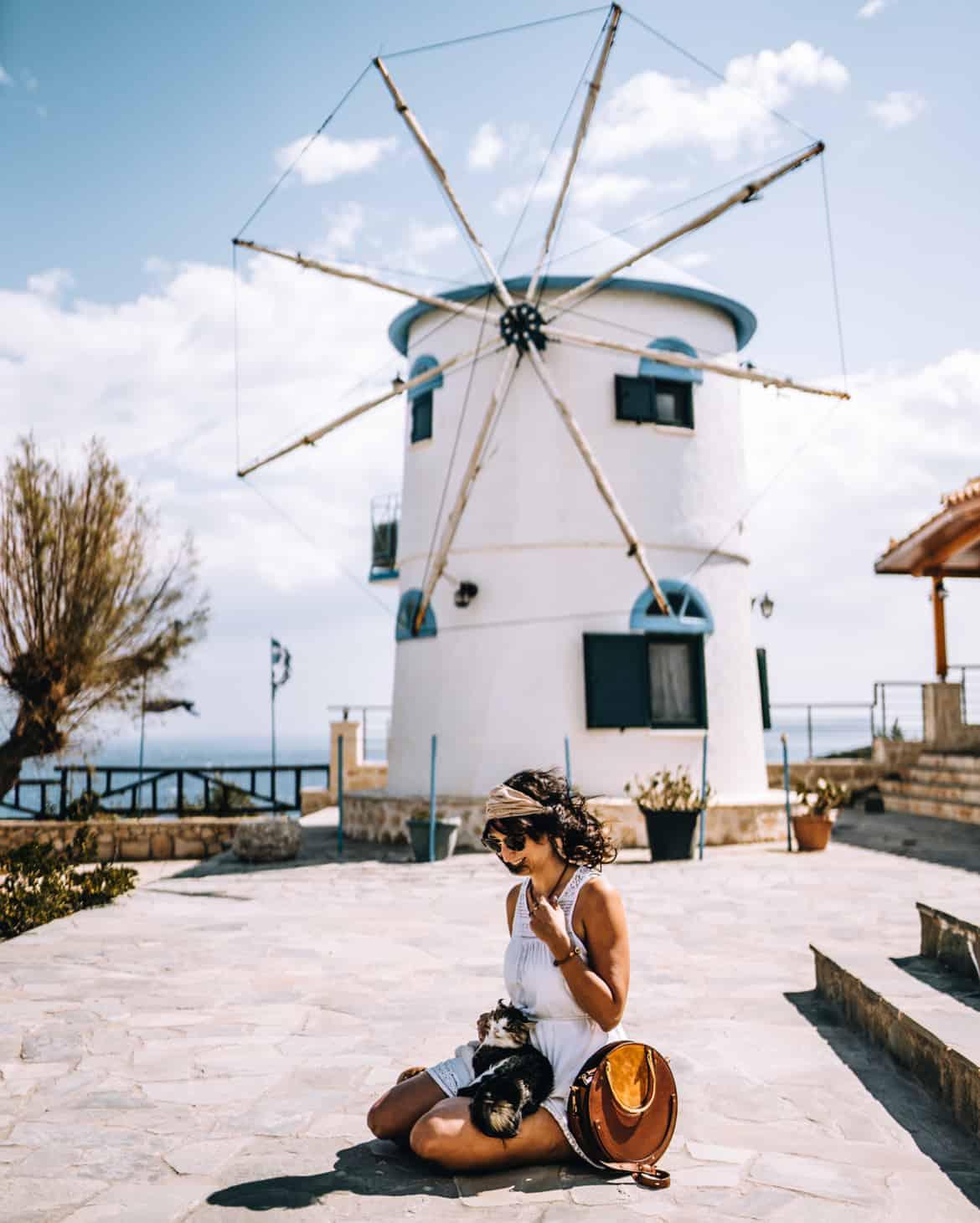 Zakynthos Urlaub - Skinari Cape, Windmühle