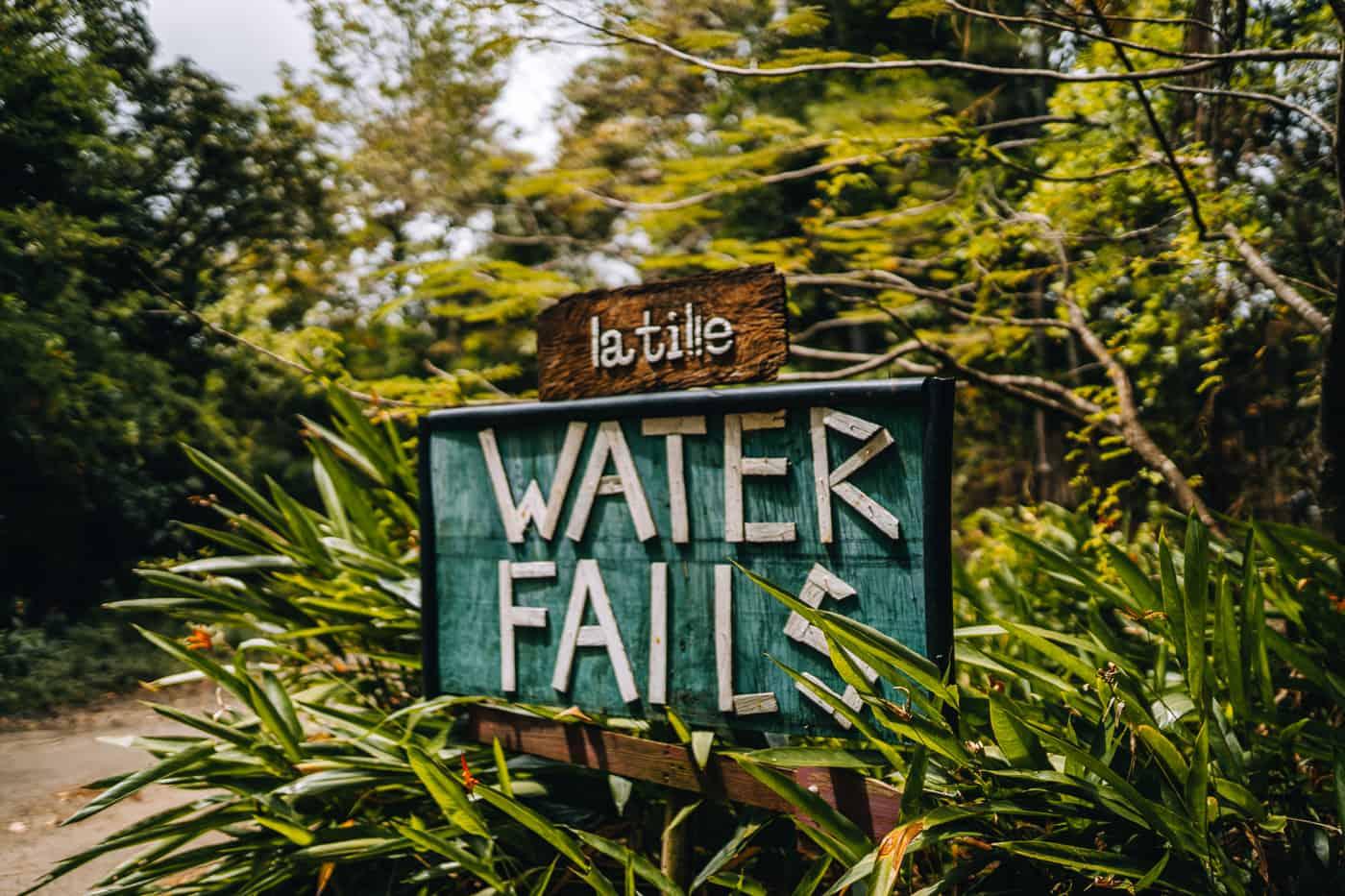 Saint Lucia - Tipps, Sehenswürdigkeiten, Strände & Ausflugsziele auf der Karibik-Insel: Latille Waterfall