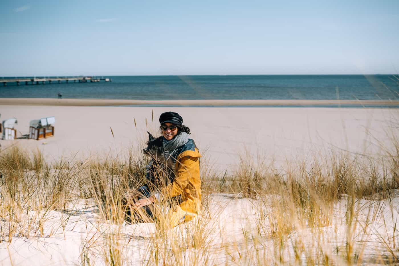 Usedom mit Hund - mit dem Hund am Strand in der Nebensaison