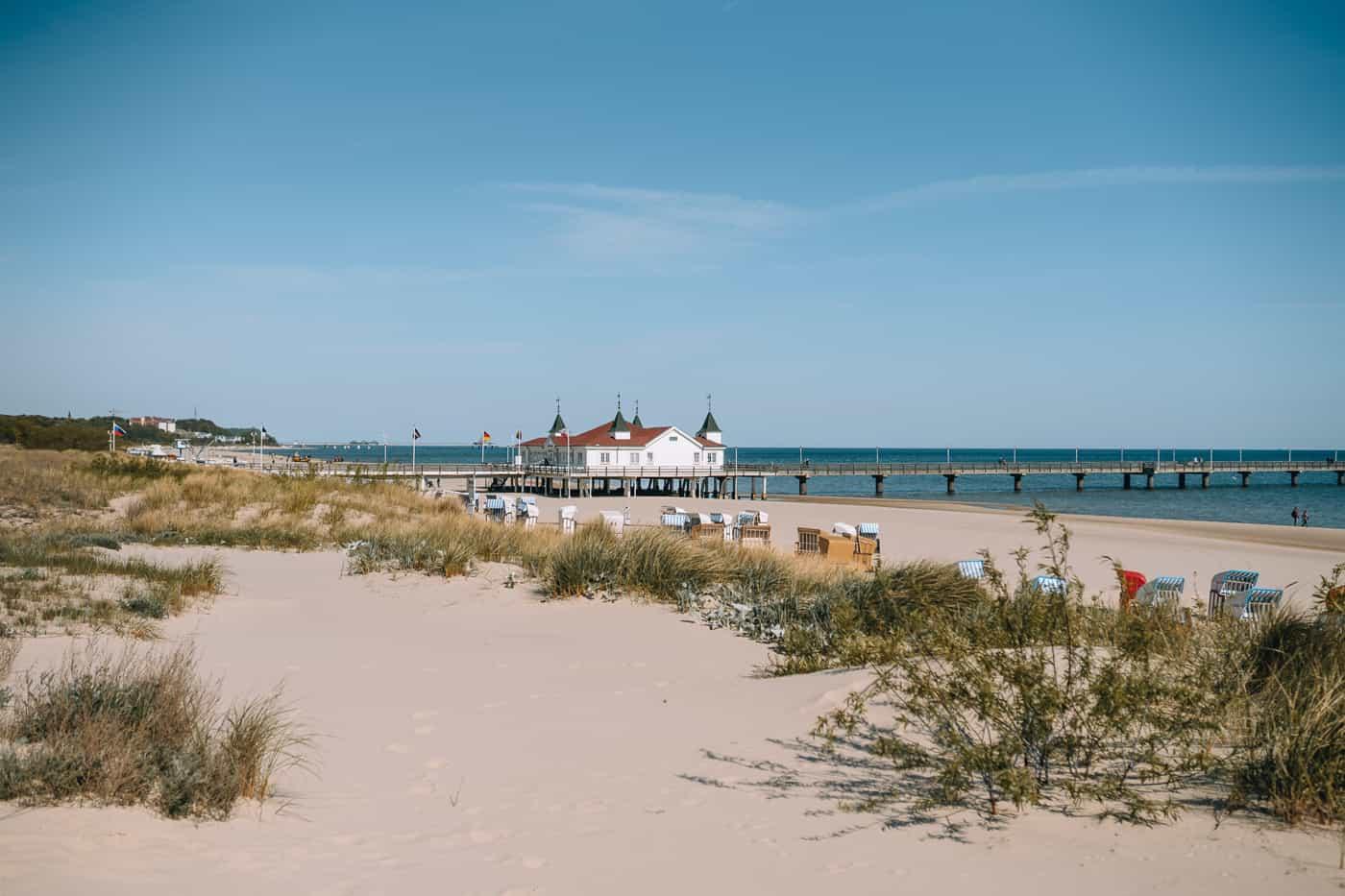 Usedom mit Hund - Kaiserbad Ahlbeck: Strand und Seebrücke