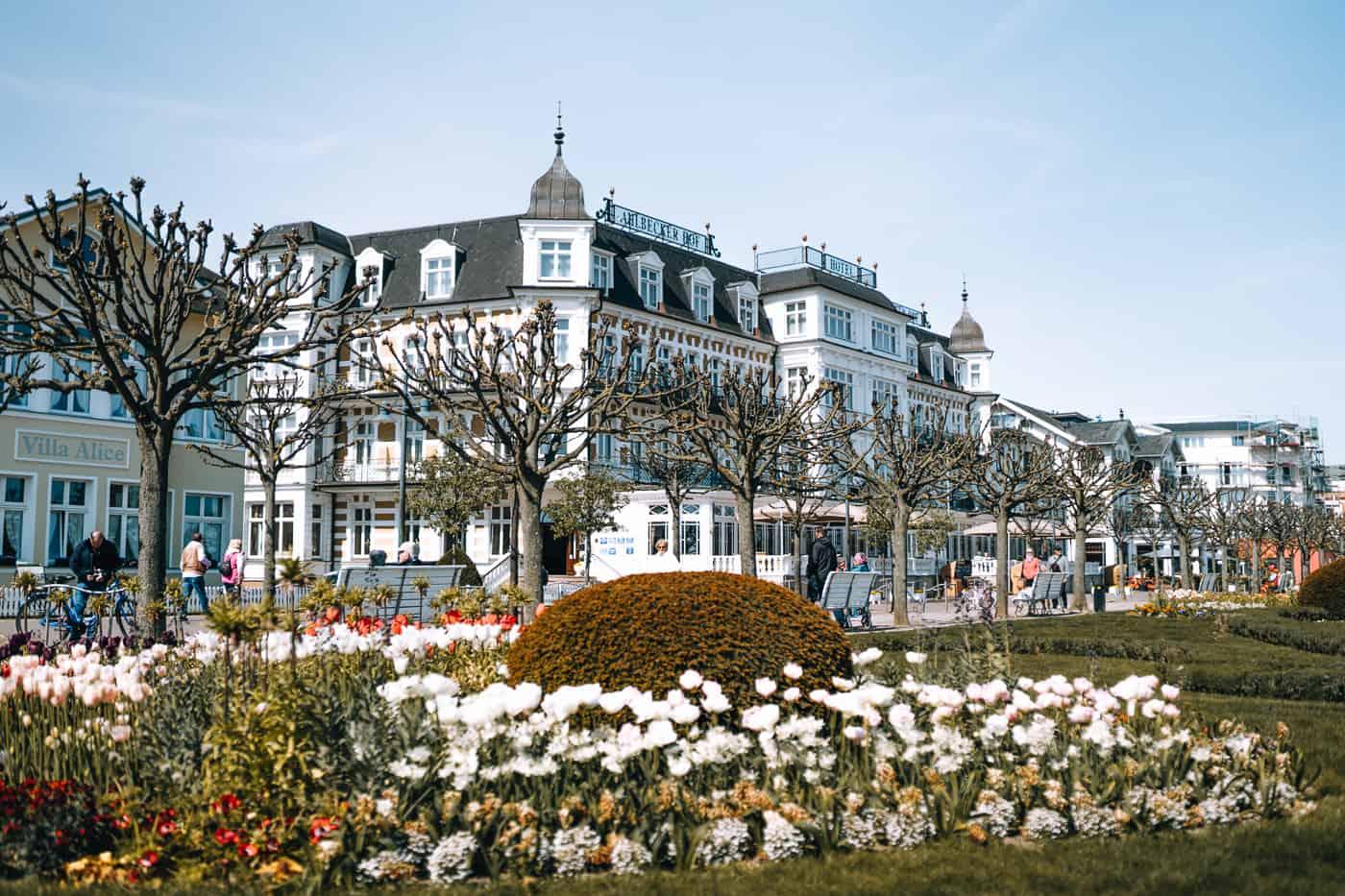 Usedom mit Hund - Kaiserbad Ahlbeck: Promenade