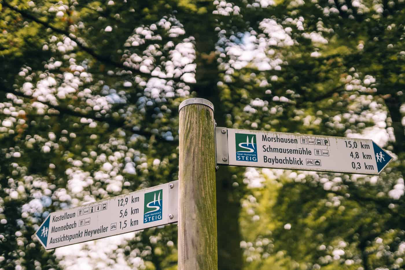 Baybachklamm Traumschleife Wanderung - Wegweiser