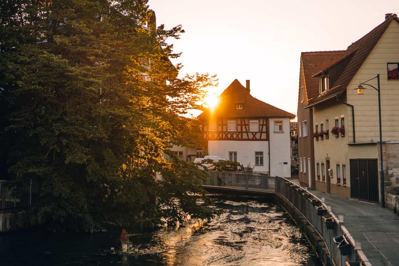 Forchheim in Oberfranken - Klein Venedig / Sonnenuntergang