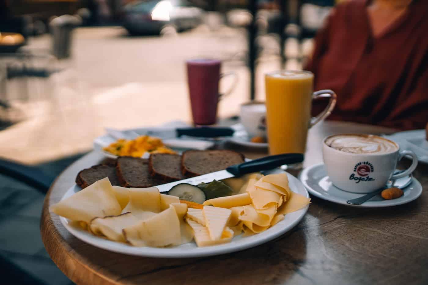 Forchheim in Oberfranken - Frühstück in der Kaffee-Rösterei Bogatz