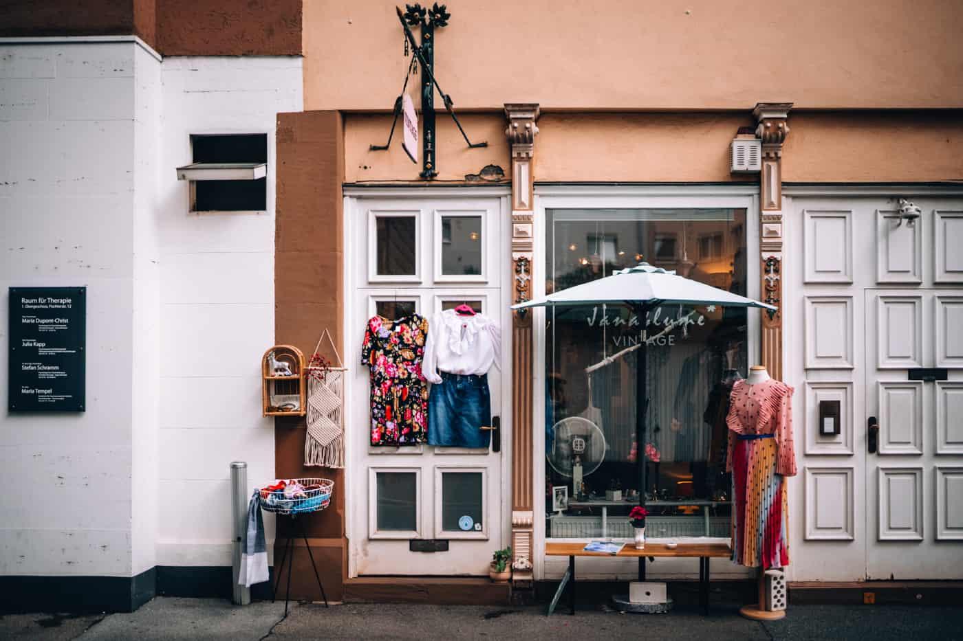 Mainz - Sehenswürdigkeiten, schönste Ecken, Essens- & Insider Tipps: Vintage Shopping in Mainz bei Janablume Vintage