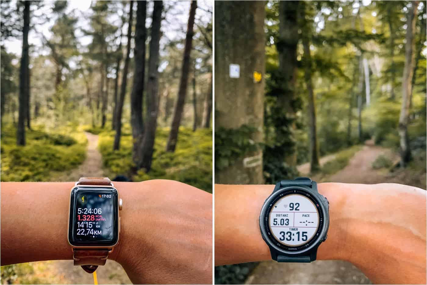 Garmin vs Apple Watch - Die beste Smart Watch für Outdoor-Reisende