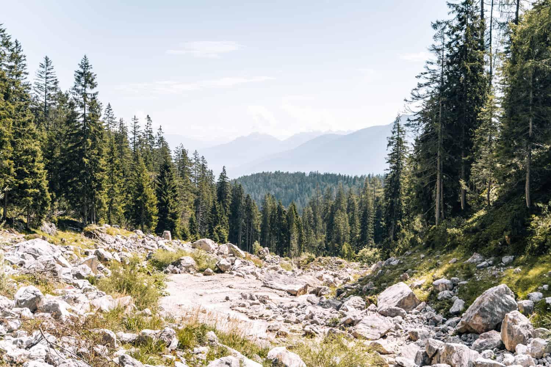Innsbruck mit Hund - Wanderung Zimmerbergklamm Neue Alplhütte